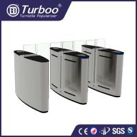 China 1.5mm SUS 304 brushed motor driven acrylic sliding gate with 5 pairs of infrared sensor on sale