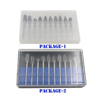 Wholesale BMR TOOLS 10pcs rotary burrs set 6mm dia with 3mm shank for wide usage in plastic packing from china suppliers