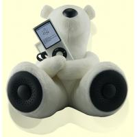 Wholesale Novelty Teddy Bear Shape Two Channel Stereo Mini Speaker / Rechargeable Mini Speakers from china suppliers