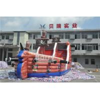 Wholesale Attractive Commercial Inflatable Combo Pirate Ship , Bouncy Castle Slide With Obstacle Course from china suppliers