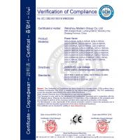 Wenzhou Modern Group Co., Ltd.  ( Wenzhou Modern Completed Electric-power Equipment Co., Ltd. ) Certifications