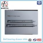 45mm Full extension soft closing ball bearing drawer slide,soft close slide