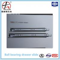 China 45mm Full extension soft closing ball bearing drawer slide,soft close slide,telescopic channel for sale