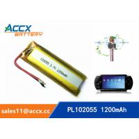 Wholesale 102055 3.7v lithium polymer battery with 1200mAh battery for bluetooth karaoke microphone, game machine from china suppliers