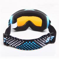 Quality Blue Nylon Strap Childrens / Kids Skiing Goggles For Glasses for sale