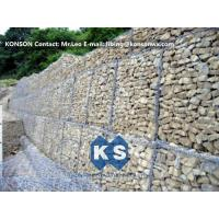 Wholesale Durable Gabion Retaining Wall 3.0 - 4.5mm Dia with PVC Coated Stainless Steel Galvanized Wire from china suppliers