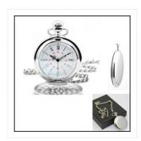Wholesale New creative gift product Alloy Chrome polished chain pocket watch with clip from china suppliers