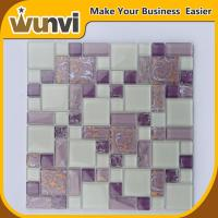Wholesale Home Mosaic Tile White and PInk Blend acid-proof , craft mosaic tiles from china suppliers