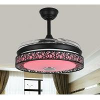 China Decorative 42 Inch Bluetooth Ceiling Fan Light Remeote Control Three Speed Grades on sale
