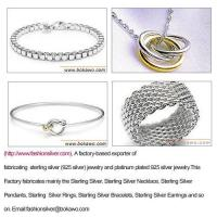 Wholesale Sterling Silver jewelry (92.5 silver jewelry) from china suppliers
