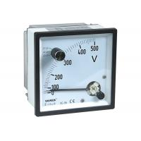 CE Approved Analogue Panel Meters With Change-Over Switch Voltmeter / Voltage Meter for sale