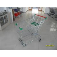 Wholesale Professional 125L Wire Grocery Cart With Wire Mesh Base Grid , ROHS from china suppliers