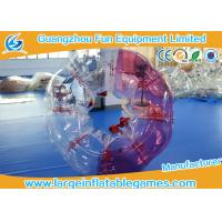 China Red / Blue Body Bubble Soccer , TPU Human Bubble Football Ball For Adult on sale