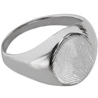 Buy cheap Silver Color Cremation URN Jewelry Fingerprint Memorial Rings from wholesalers
