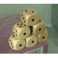 Wholesale 16mm dice natural wooden black dot dice wood game dice 16mm from china suppliers