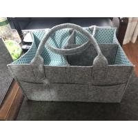 Wholesale Manufacture of Diaper Caddy Organizer, mammy storage bags for toy, clothing, and diaper bags felt from china suppliers