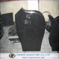 Tombstone & Monuments, Polished Absolute Black Granite Tombstone for sale