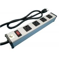 Wholesale Metal 4 Way Multi Outlet Power Strip With On Off Switch For Workshop / Office from china suppliers