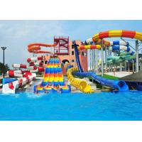 Wholesale Customized Spiral Swimming Pool Water Slides Outdoor 12 Meter Platform from china suppliers