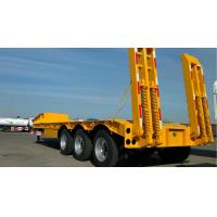 3 Axles Gooseneck Low Bed Trailer Transporter 70 Ton For Heavy Excavator Wheelloader
