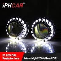 Wholesale IPHCAR Hot Wheel Cree Chip Led Angel Eye Hid bi xenon car Lighting Automotive Headlight Led DRL from china suppliers