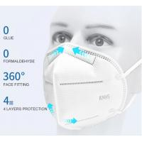 Wholesale Non-woven Fabric KN95 face mask  FFP2 disposable respirator anti dust face mask White 5 layers KN95 Face Mask from china suppliers