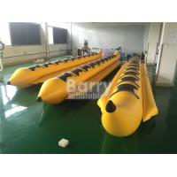 Wholesale Yellow 8 Seats Inflatable Toy Boat Water Game Banana Boat Inflatable Water Toy from china suppliers