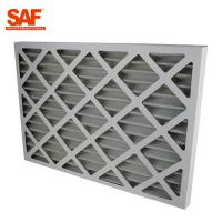 Wholesale Cardboard Frame Flat Panel Air Filter , Commercial HVAC Filters G4 Efficiency from china suppliers