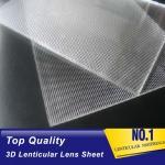 China PLASTICLENTICULAR 15 LPI lenticular plastic sheets PS 3 images flip lenticular lens for uv flatbed and inkjet printer for sale