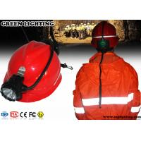 China High Power Miners Cap Lamp With Rear Warning Light 15000 Lux Brightness on sale
