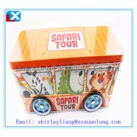 Wholesale Colorful car shape  biscuit cookies tin box for kids from china suppliers