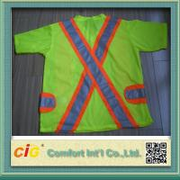 Wholesale Orange Red Green Pink Traffic Safety Vest Reflective Clohting for Security 100% Polyester from china suppliers