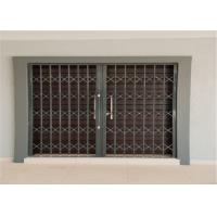 Quality Thickness 2.0mm 6063 Aluminium Security Doors with Sand Blasting for sale