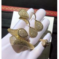 Wholesale 18K Gold Diamond Bracelet / Ring / Earrings For Wedding Anniversary brand jewelry stores from china suppliers