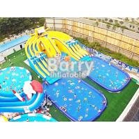 Wholesale Spongebob Cartoon Inflatable Water Park Big Capacity With 2 Pools / 3 Lane Slide from china suppliers