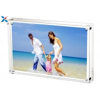 China 5*7'' Magnetic Acrylic Photo Frame Silk Screen Printing With Single / Double Sided for sale