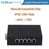 Buy cheap full gigabit IP 40 protection 5x10/100/1000MBase TX Gigabit Industrial Ethernet Switch from wholesalers