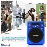 2018 new fashionable Portable Bluetooth Recorder Speaker with FM radio blue