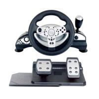 Buy cheap multi-interface gaming racing wheel steering wheel with foot pedal forPC (Direct-X & X-INPUT) /PS3 /PS4 from Wholesalers