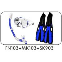Wholesale 4 Sizes Diving Sets Diving Fins Free Diving Goggles and Diving Snorkel from china suppliers