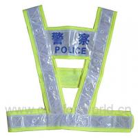Wholesale Promotion Colorful Traffic Belt Reflective Safety Vests For Police , Green Color from china suppliers