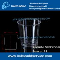 Quality clear 100ml thin wall PS plastic disposable drinking cups mould manufacturers and supplier for sale
