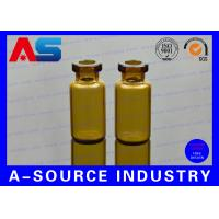China Amber Little Glass Vials 10mL Bottle 22mm Wide 50mm Tall with Dropper Sealing for sale