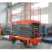 China 11 Meters Mobile Scissor Lift 500Kg Loading Capacity For Work At Height for sale