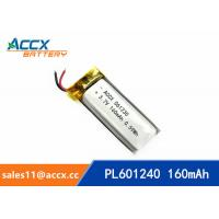 Wholesale 601240 pl601240 3.7v 160mah lithium polymer rechargeable battery for talking pen, recording pen, wearable product from china suppliers