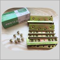 China High Durability Screw Hook Hinge  Yellow Zinc Color 480g Corner Brackets 8screws for sale
