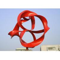Wholesale Red Painted Metal Sphere Sculpture , Decorative Metal Sculptures Large from china suppliers