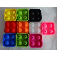 Quality colorful silicone ice spheres for christmas , silicone whisky ice ball mold for sale
