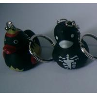 Wholesale Vampire Halloween Rubber Mini Duck Keychain Bloodsucker Design Promotional Gift from china suppliers