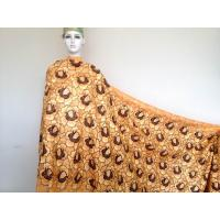 Wholesale Big Voile Soft African Swiss Cotton Lace Yellow For Evening Dress from china suppliers